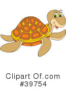 Royalty-Free (RF) Turtle Clipart Illustration #39754