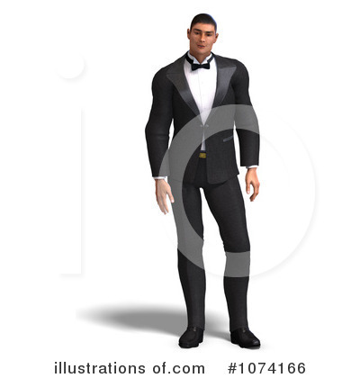 Royalty-Free (RF) Tuxedo Clipart Illustration by Ralf61 - Stock Sample #1074166