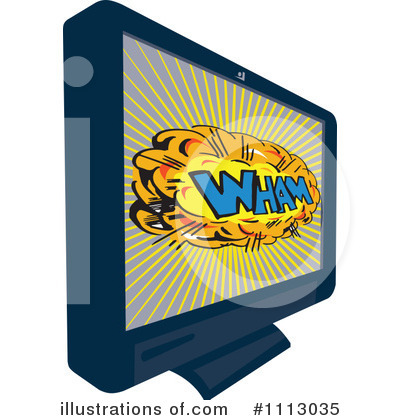 Royalty-Free (RF) Tv Clipart Illustration by patrimonio - Stock Sample #1113035