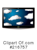 Royalty-Free (RF) Tv Clipart Illustration #216757
