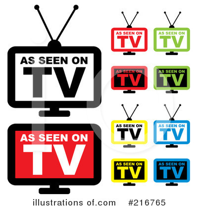 Royalty-Free (RF) Tv Clipart Illustration by michaeltravers - Stock Sample #216765