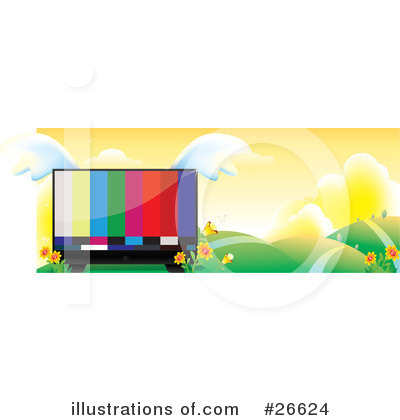 Royalty-Free (RF) Tv Clipart Illustration by NoahsKnight - Stock Sample #26624