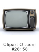 Royalty-Free (RF) Tv Clipart Illustration #28158