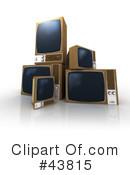 Royalty-Free (RF) Tv Clipart Illustration #43815
