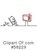 Royalty-Free (RF) Tv Clipart Illustration #58229