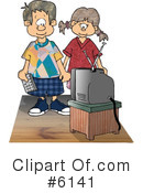 Royalty-Free (RF) Tv Clipart Illustration #6141