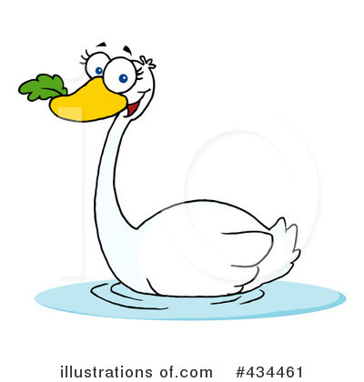 Swan Clipart #434461 by Hit Toon