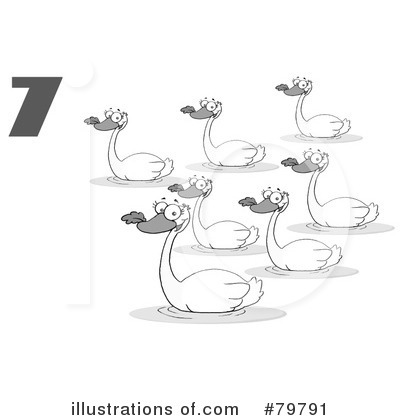 12 days of christmas 7 swans a swimming royalty free stock photos