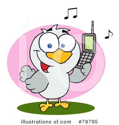 Cell Phone Clipart #79795 by Hit Toon