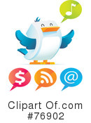 Royalty-Free (RF) Twitter Clipart Illustration #76902