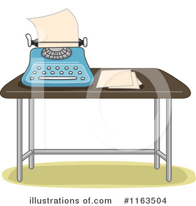 Royalty-Free (RF) Typewriter Clipart Illustration by BNP Design Studio - Stock Sample #1163504