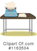 Royalty-Free (RF) Typewriter Clipart Illustration #1163504