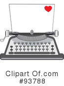 Royalty-Free (RF) Typewriter Clipart Illustration #93788