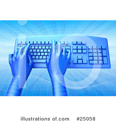 Typing Clipart #25058 by Tonis Pan