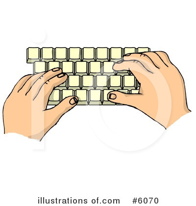 Royalty-Free (RF) Typing Clipart Illustration by djart - Stock Sample #6070