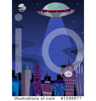 Royalty-Free (RF) Ufo Clipart Illustration by BNP Design Studio - Stock Sample #1298977