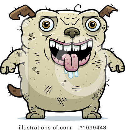 Royalty-Free (RF) Ugly Dog Clipart Illustration by Cory Thoman - Stock Sample #1099443