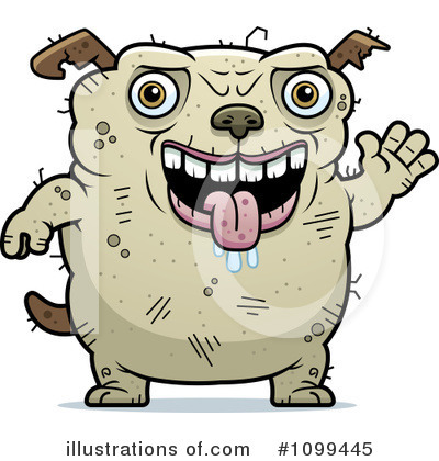 Ugly Dog Clipart #1099445 by Cory Thoman