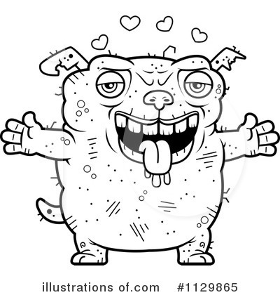 Ugly Dog Clipart #1129865 by Cory Thoman