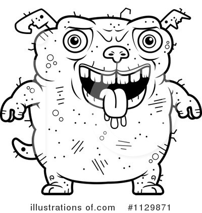 Ugly Dog Clipart #1129871 by Cory Thoman