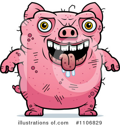 Pig Clipart #1106829 by Cory Thoman