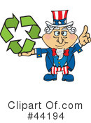 Royalty-Free (RF) Uncle Sam Character Clipart Illustration #44194