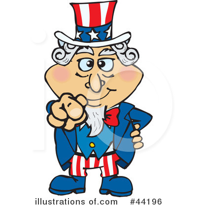 Uncle Sam Clipart #44196 by Dennis Holmes Designs