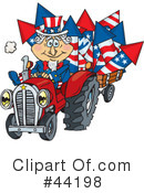 Royalty-Free (RF) Uncle Sam Character Clipart Illustration #44198