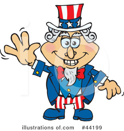 Royalty-Free (RF) Uncle Sam Character Clipart Illustration by Dennis Holmes Designs - Stock Sample #44199