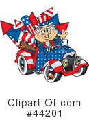 Royalty-Free (RF) Uncle Sam Character Clipart Illustration #44201