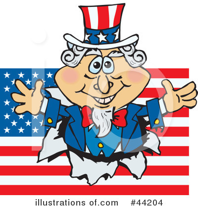 Uncle Sam Clipart #44204 by Dennis Holmes Designs