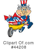 Royalty-Free (RF) Uncle Sam Character Clipart Illustration #44208