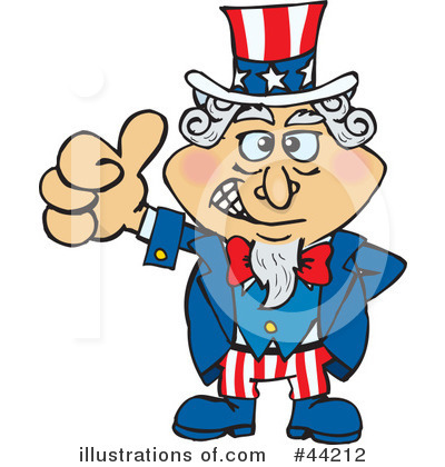 Uncle Sam Clipart #44212 by Dennis Holmes Designs