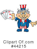 Royalty-Free (RF) Uncle Sam Character Clipart Illustration #44215