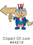 Royalty-Free (RF) Uncle Sam Character Clipart Illustration #44219