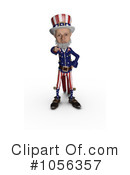 Royalty-Free (RF) Uncle Sam Clipart Illustration #1056357