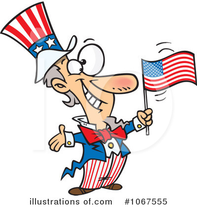 American Flag Clipart #1067555 by toonaday