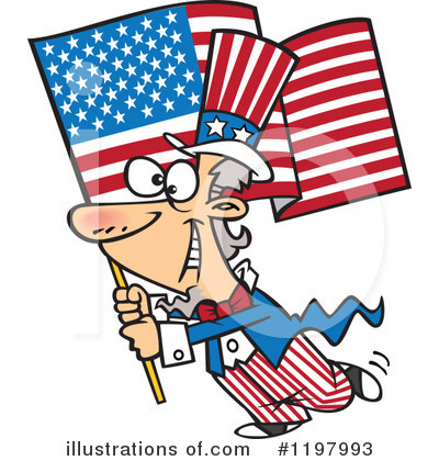 American Flag Clipart #1197993 by toonaday