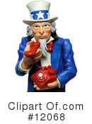 Royalty-Free (RF) Uncle Sam Clipart Illustration #12068