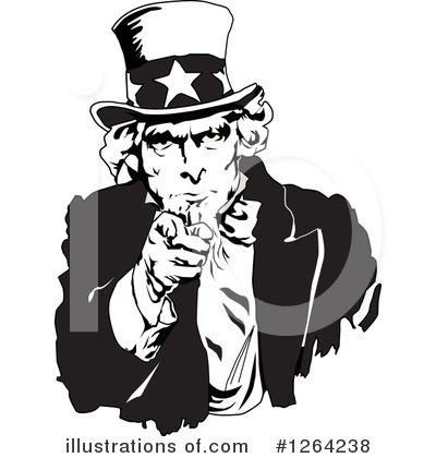 Uncle Sam Clipart #1264238 by Dennis Holmes Designs