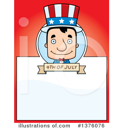 Block Headed White Man Clipart #1376076 by Cory Thoman