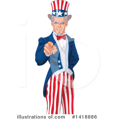 Uncle Sam Clipart #1418886 by Pushkin