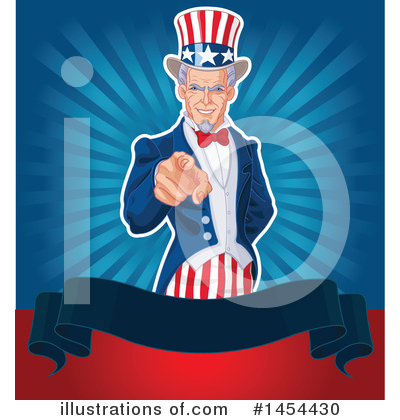 Royalty-Free (RF) Uncle Sam Clipart Illustration by Pushkin - Stock Sample #1454430