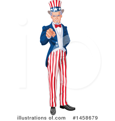 Uncle Sam Clipart #1458679 by Pushkin