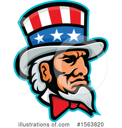 Royalty-Free (RF) Uncle Sam Clipart Illustration by patrimonio - Stock Sample #1563820