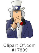 Royalty-Free (RF) Uncle Sam Clipart Illustration #17609