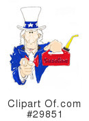 Royalty-Free (RF) Uncle Sam Clipart Illustration #29851