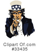 Royalty-Free (RF) Uncle Sam Clipart Illustration #33435