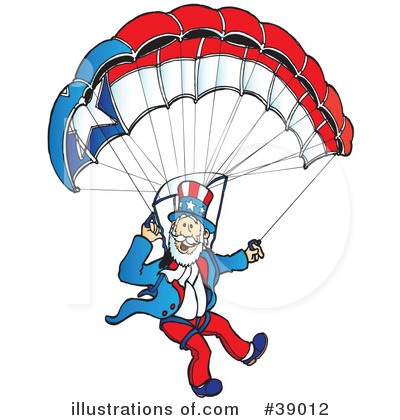 Skydiving Clipart #39012 by Snowy