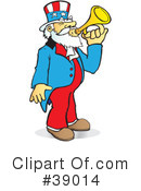 Royalty-Free (RF) Uncle Sam Clipart Illustration #39014